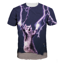 3D Cute T-shirts Women Summer Tops Tees Print Animal Men Tshirts