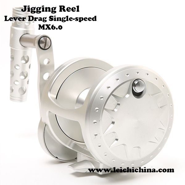 Lever drag single speed cnc machine cut fishing jigging reel