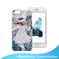 Custom DIY Priting 5 Inch White Plastic 3D Sublimation Blank Cell Phone Case
