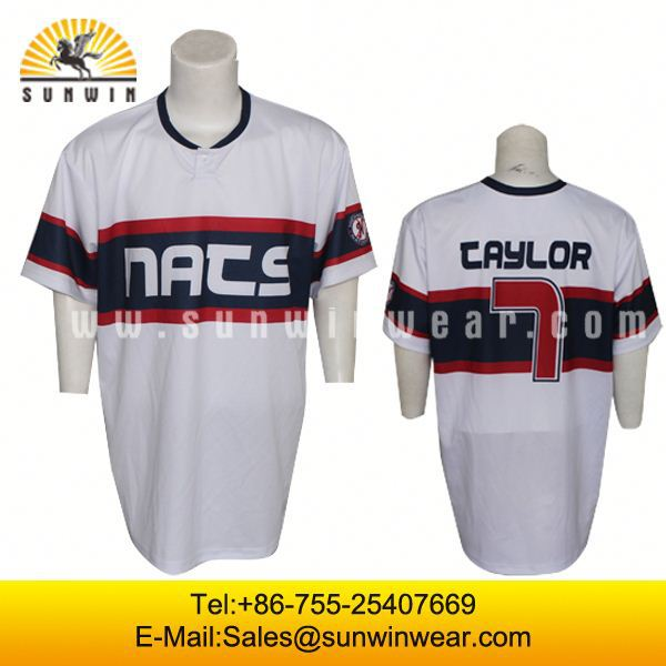 custom dry sublimation custom baseball jerey