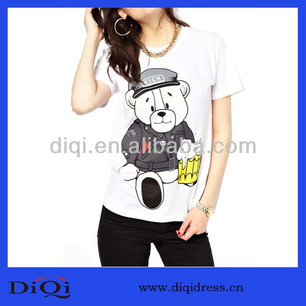 new cheap loose good times bear t-shirt DQ132