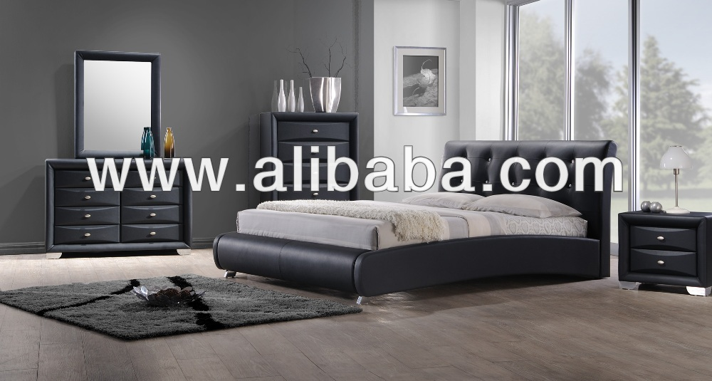 Bedroom Furniture / Faux Leather PU Bed / Cory Bedroom