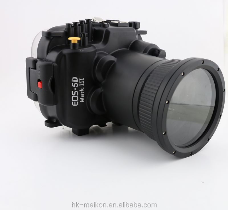 Meikon  5D MK III wholesale underwater DSRL camera case for underwater 40M  Canon camera EOS 5D MK III