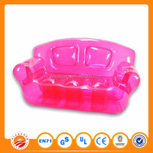 PVC lovely inflatable kids sofa pink inflatable sofa