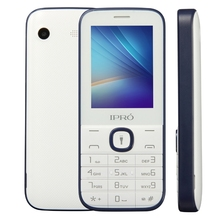"IPRO New model i324F 2.4"" inch QVGA multi colors feature mobile phone Call Bar Mobile Phone with 1000 mah big battery with torch"