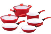 Customized color Aluminium non-stick cookware sets forged series