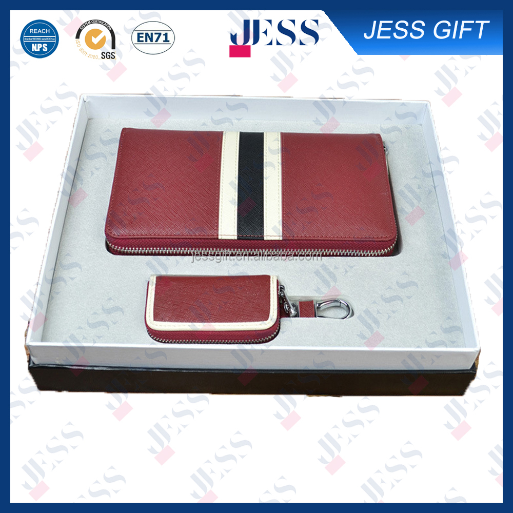 Classic PU Leather Wallet and Key Bag Business Gift Set
