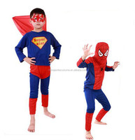 Promotional Spider Man Kids Costume For Hallowen Decoration And Cosplay Show