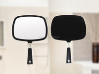 Black salon barber hand makeup mirror, salon hand held makeup mirror, large hand held mirror