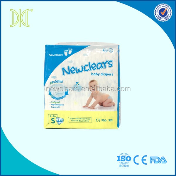 Nana baby diapers vestidos cute disposable baby diapers with FDA certificated