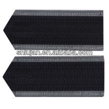 High quality wholesale factory price embroidered badge embroidery military rank epaulettes manufacturer