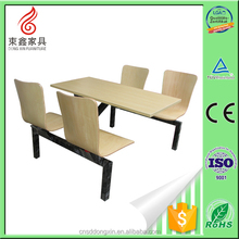 school canteen table and chair, fast food restaurant chair and tabl
