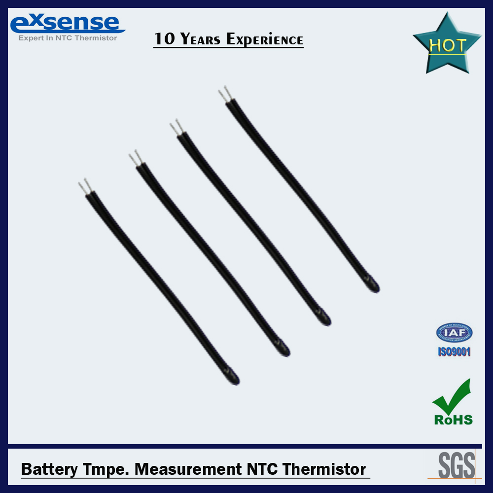 High stability Temperature measurement Battery NTC thermistor probe sensor