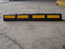 one meters long yellow black Rubber Wheel Stoppers