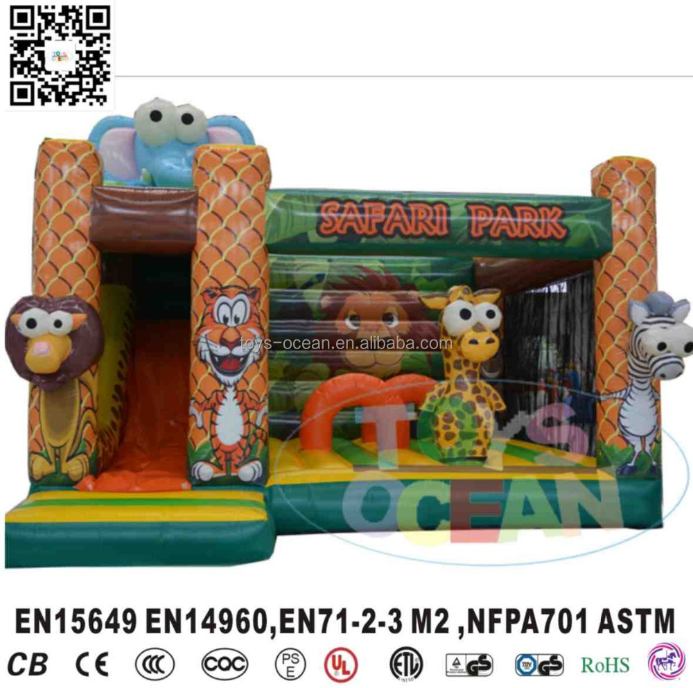 SAFARI PARK animal park inflatable children cartoon jump bouncy castle inflatable bounce