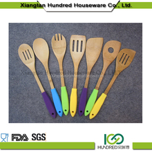 Serving And Cooking Tools Bamboo Dinner Set Kitchen Utensils 4 Bamboo Spoons And Spatula Set