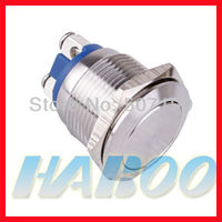 19mm screw type falt head stainless metal antivandal push button switch IP67