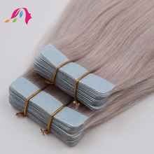mongolian human hair double sided wig tape hair extension