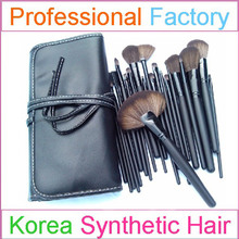 Cheap 24pcs professional makeup brush set with wood make up brush oem facotry