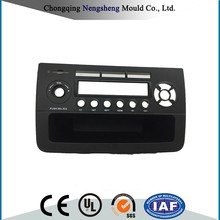 Black PE Plastic With MP3 Player Car Audio Frame