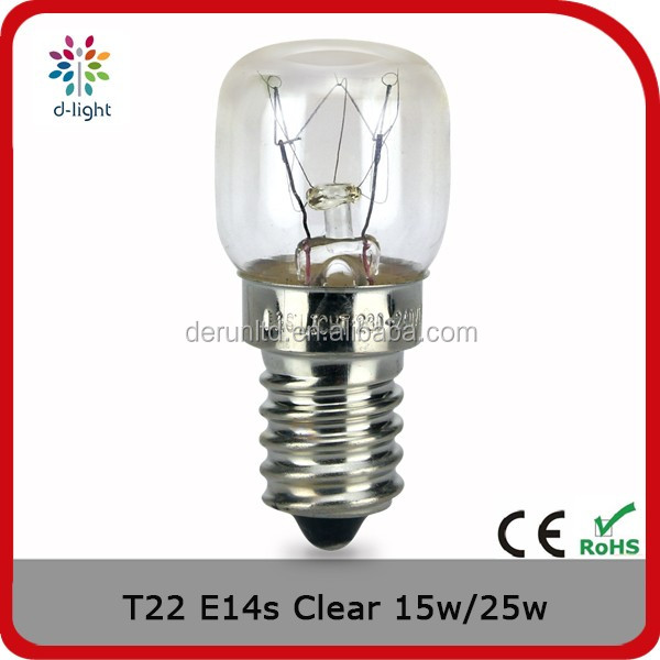 T22 25w E14s incandescent indicator tube bulb lamp for America market