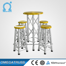 China Manufacturer 30mm plywood high bar table and chair used