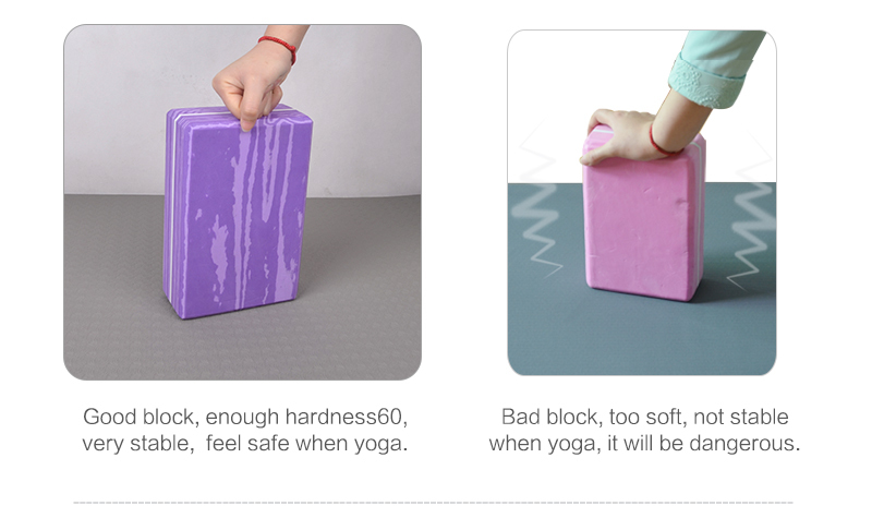 2015 NEW type rainbow EVA yoga block size 3x6x9'' welcome OEM brand foam yoga block