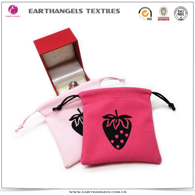 Custom Printed Velvet Jewelry Bag Pouch With Logo