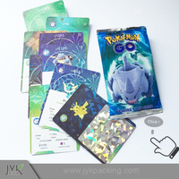 Paper material pokemon GO game cards
