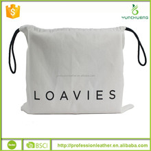 High Quality Cotton Drawstring Dust Covers Shoe Bags, Plain Eco Cotton Bags