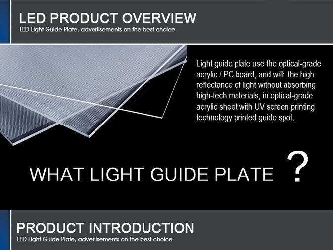 acrylic material edge lit led light panel edgelux panel