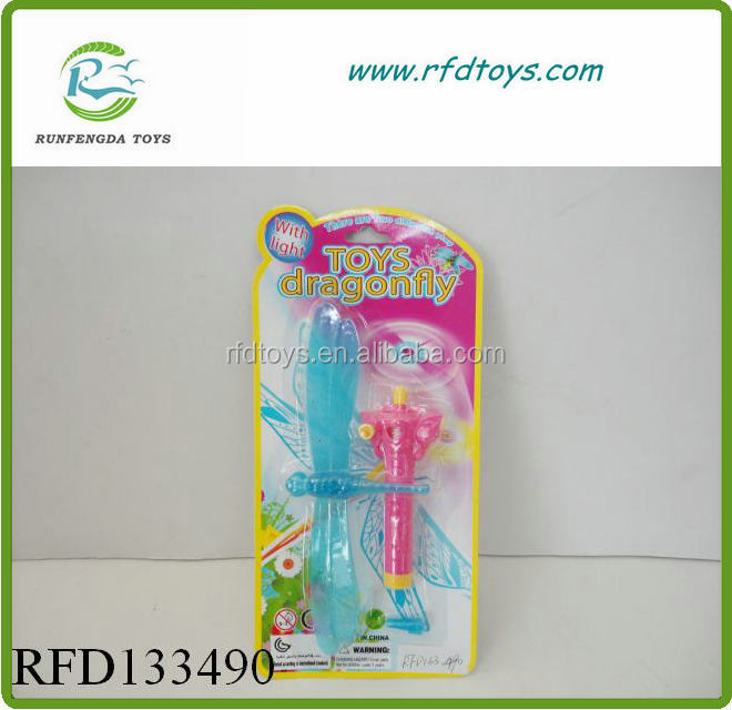 Hot sale plastic pull line dragonfly flying spinning toys fly dragonfly toy