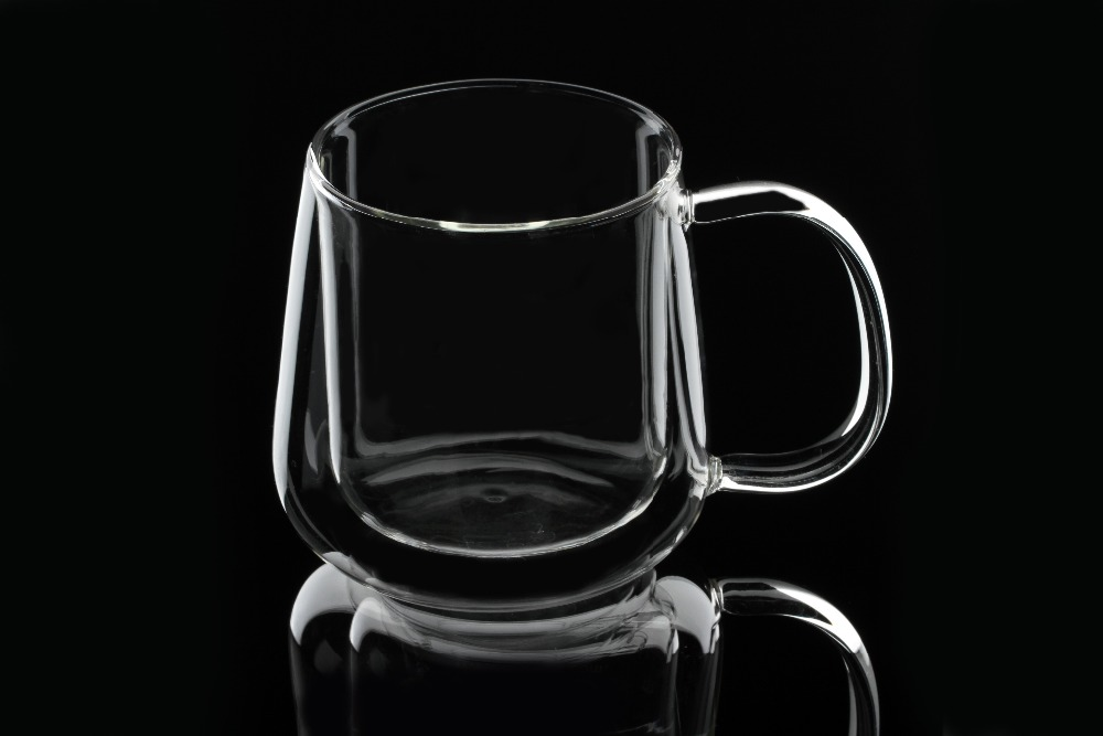 light borosilicate double wall glass tea coffee cup