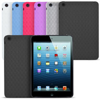 New Square Pattern Soft Gel Back Case For Ipad Mini
