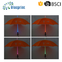 Wholesale seven color advertising torch light led umbrella