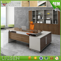 Factory wholesale price luxury standard office desk dimensions wooden executive desk modern boss table