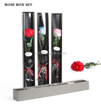 Ecuador Single Soap Flower Rose Paper Gift Packaging Box Set Valentine Best Girlfriend/Wife Flower Present Packing Box Set