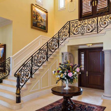 Elegent Interior Wrought Iron Metal Curved Stair Railings/ Handrails Design