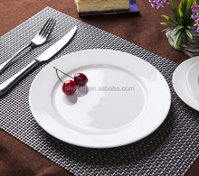 wholesale hotel restaurant ceramic white wedding plates and serving plates