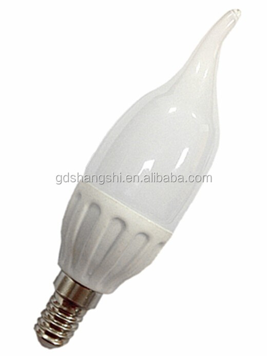 Foshan Factory price ceramic led candle bulb 5w E14 with CC driver