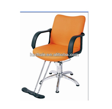yellow beauty excellent salon styling chair with pvc leather and armrest