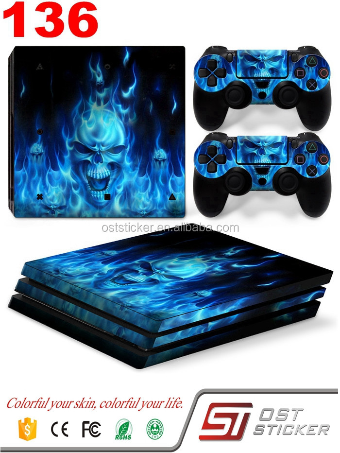 Low Price skin sticker For Sony Playstation 4 Pro Console Controller Vinyl Sticker For Sony Playstation 4 Pro Console