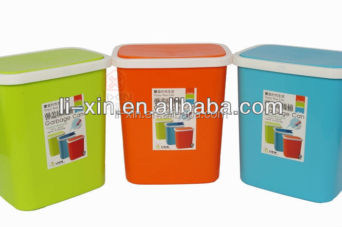 No.L253 plastic turning cover dustbin