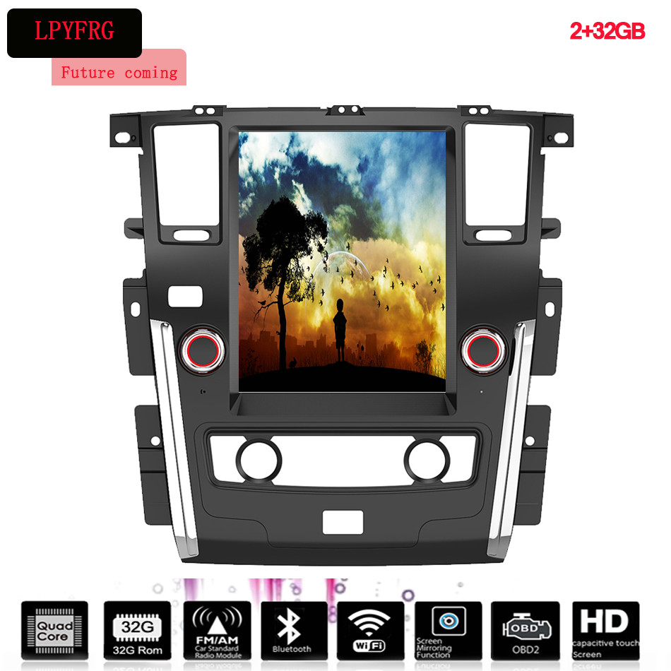 Android 12.1 Inch Car Stereo DVD player for Nissan Patrol Y61 Y62 Y63 2011-2017 Navigation System With WiFi Bluetooth AC radio