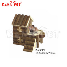 Functional pet wooden home hamster cage for sale