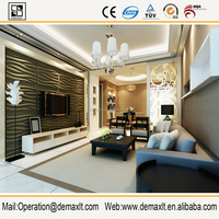 Guangzhou decorative Plant Fiber 3D Board / 3D wall panel from China