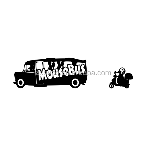 ZOOYOO mousebus mouse bike stickers carton mouse driver decoration decoration of houses interior (3108)