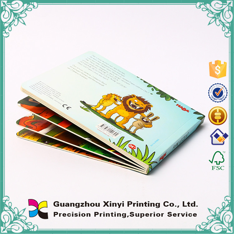 High quality eco-friendly custom printed children cardboard board book printing on demand