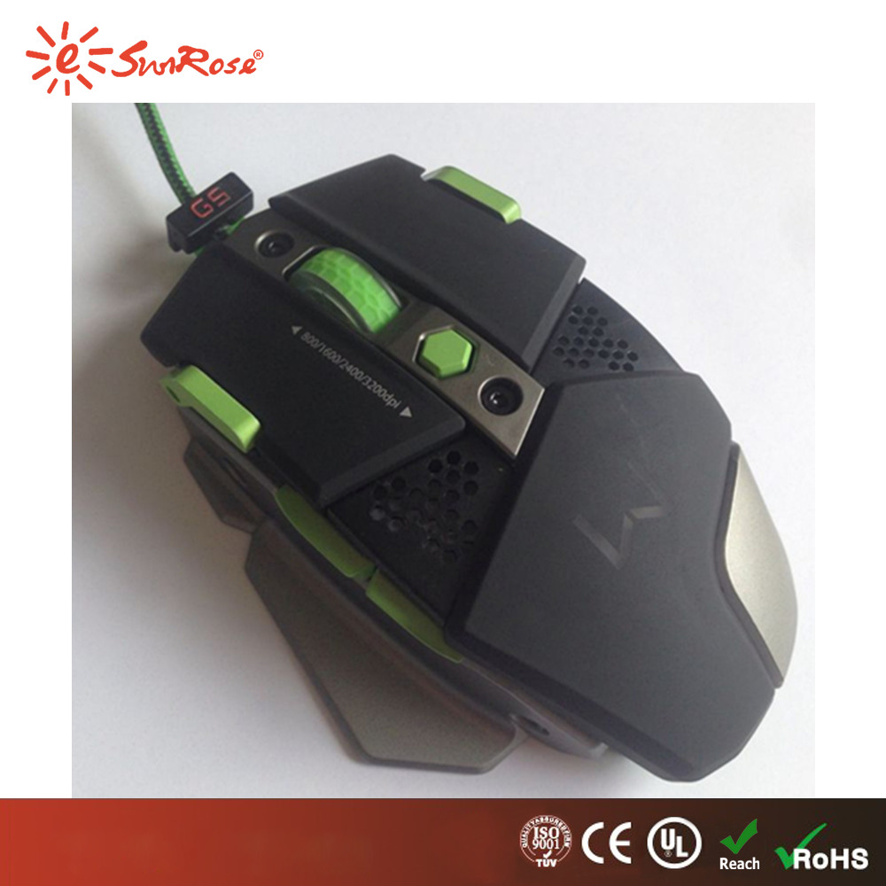 2017 metal bottom optical mouse Avago 3320 gaming mouse