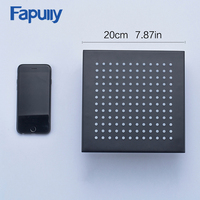 Fapully oil rubbed bronze rectangular bathroom accessories rainfall shower head